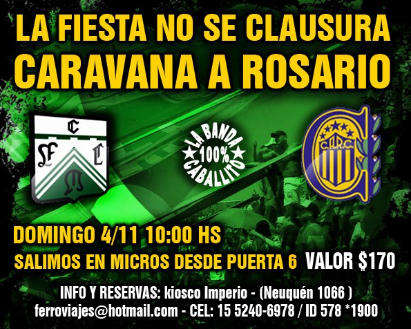 Domingo 15 h, Rosario Central vs Ferro
